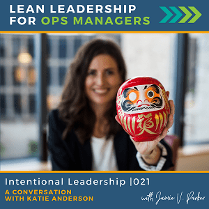 Ep 021 - Intentional Leadership - Cover Art WP - Lean Leadership for Ops Managers Podcast