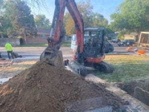 Replacing my sewer line - tearing up that front yard